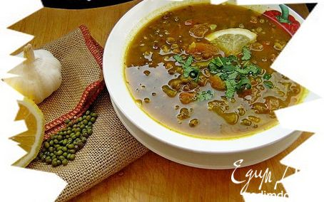 Рецепт Мунг-дал таркари (Постный суп из маша)