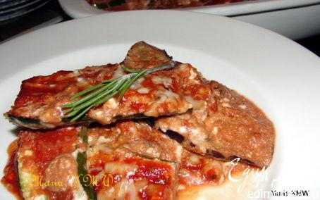 Рецепт Баклажанно-томатный гратен