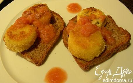 Рецепт Жареный козий сыр с ревеневым соусом