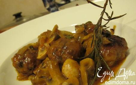 Рецепт Мини-котлетки в томатном соусе с розмарином и грибами