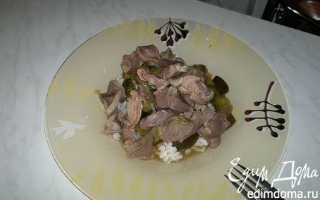 Рецепт Желудки индейки с баклажаном и рисом