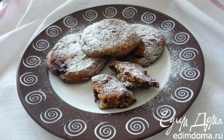 Рецепт Творожное печенье с вишней и шоколадом
