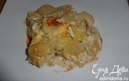 Рецепт Сайда под молочно-луковым соусом с зеленью