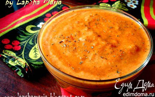 Рецепт Суп-пюре из запеченных овощей (+ постный вариант)