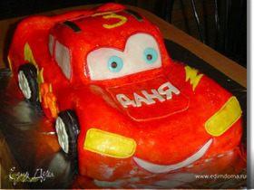 """Торт """"Машинка Маквин"""""""