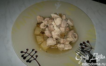 Рецепт Два вида грудок птицы и корень сельдерея тушеный с тимьяном