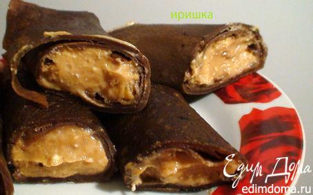 Рецепт Шоколадные блины с воздушной начинкой
