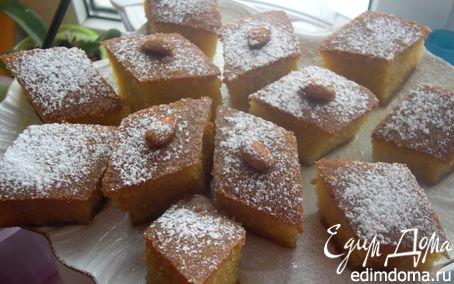 Рецепт – Апельсиновый Ревани  (турецкая сладость)