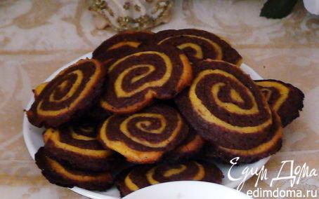 Рецепт Шоколадно-апельсиновые полосатые колесики