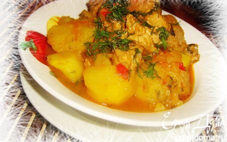 Рецепт Тушеное мясо с картошкой