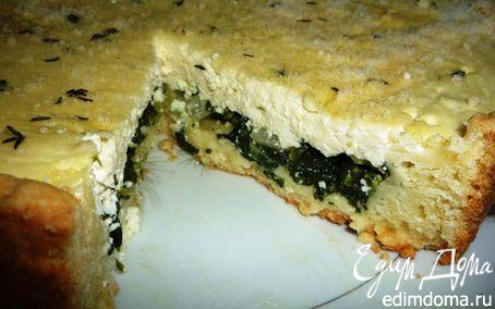 Рецепт Творожный киш со шпинатом и сельдереем