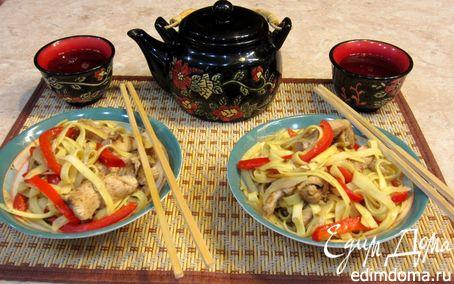 Рецепт Лапша с куриной грудкой по-китайски