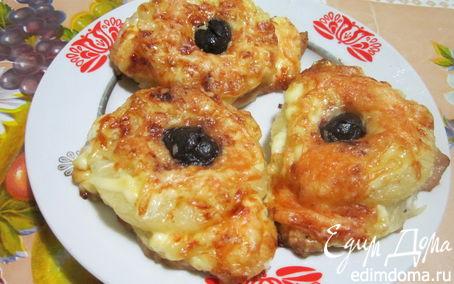 Рецепт Свиные отбивные с ананасами и маслинами