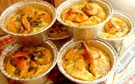 Рецепт Клафути с креветками и сладкой кукурузой