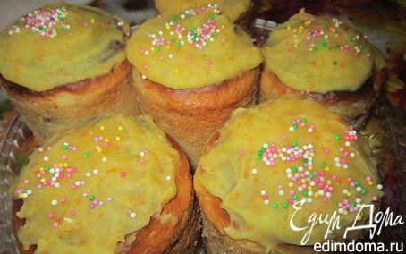 Рецепт Кулич с мандариновой глазурью
