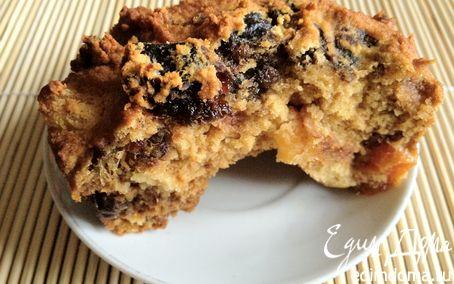 Рецепт Кукурузные кексы с сухофруктами