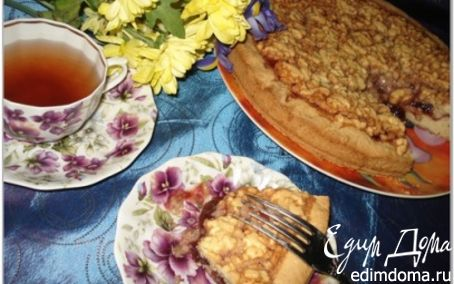Рецепт Песочный пирог с клубничным вареньем