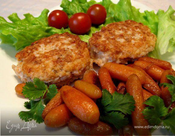 Рыбные котлеты с морковкой