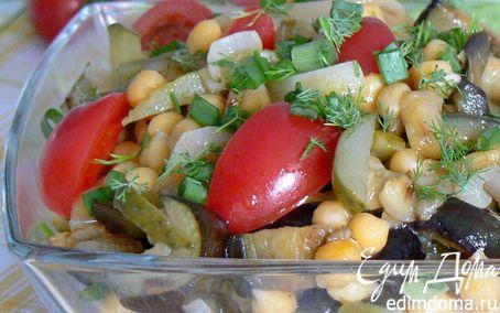 Рецепт Салат с нутом и баклажаном