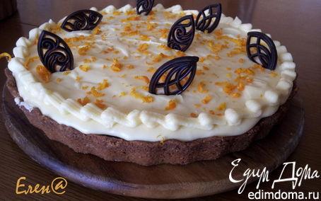 Рецепт Пирог со сливочным кремом и шоколадом