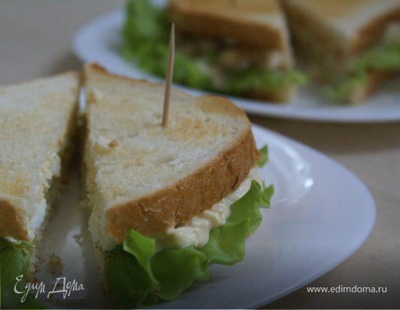 Сэндвич с яичным салатом/Sandwich with egg salad