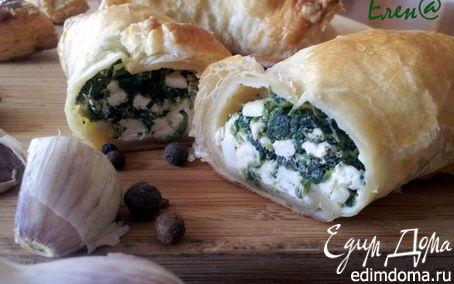Рецепт Греческие круассаны с брынзой и шпинатом