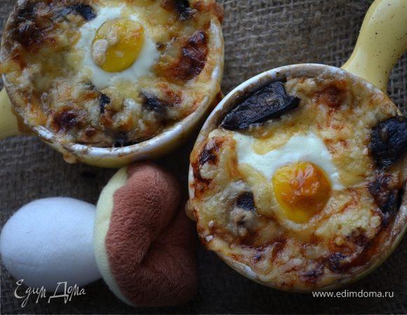 Жюльен с перепелиными яйцами