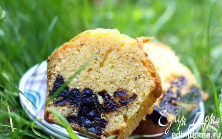 Рецепт Миндальный кекс с черносливом