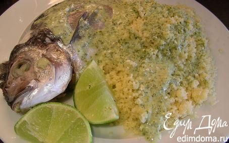 Рецепт Рыба с соусом из кориандра, лайма и кокосового молока