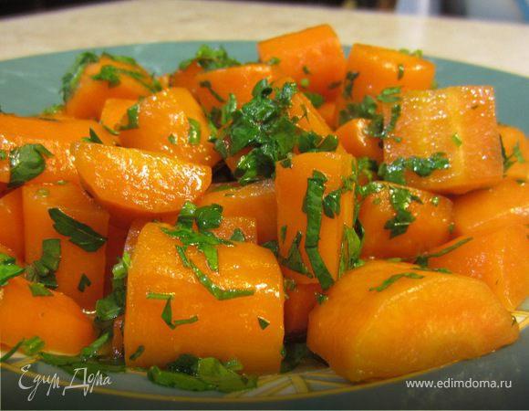 Карамелизованная морковь с лимоном и зеленью