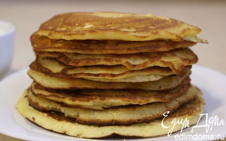 Рецепт Американские блины с кукурузной мукой / American pancakes with corn flour