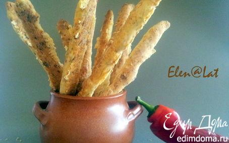Рецепт Сырные палочки с ветчиной