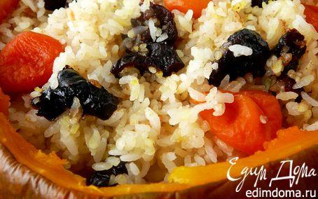 Рецепт Сладкая рисовая каша в тыкве