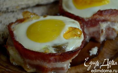 Рецепт Беконовые гнезда с яйцом