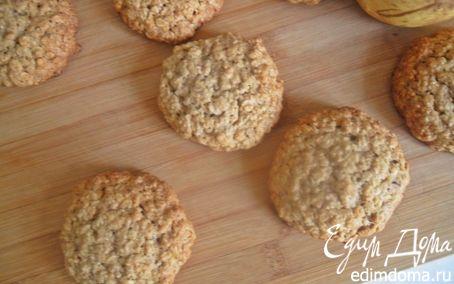 Рецепт Овсяное печенье с грецким орехом