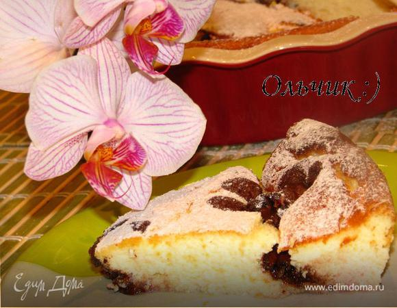 Творожное суфле с крыжовником и шоколадом
