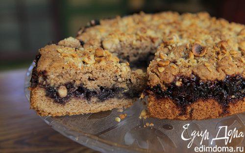 Рецепт Черничный пирог с фундуком