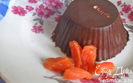 Рецепт Глазированные сырки с миндалем,печеньем и курагой