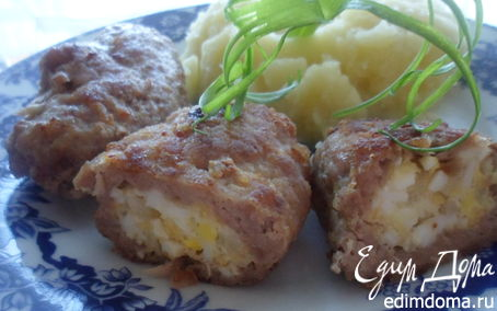 Рецепт Зразы с яично-сырной начинкой