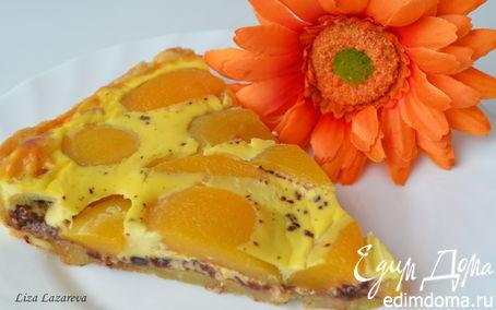 Рецепт Шоколадно-персиковый тарт