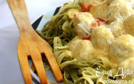 Рецепт Паста с куриными тефтелями под тыквенным соусом