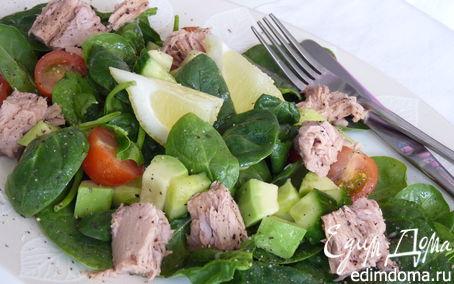 Рецепт Салат из тунца и авокадо