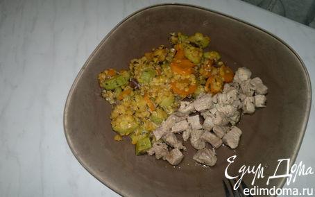 Рецепт Чечевица с овощами и свиная лопатка