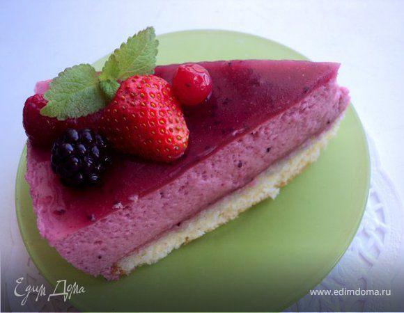 """Торт """"Черносмородиновое наслаждение"""", по рецепту от Джеймса Мартина («Delice au cassis»)"""