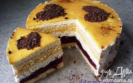 Рецепт Сметанный торт с вишней и яичным ликером