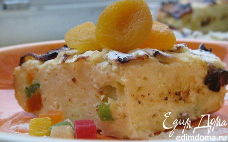 Рецепт Запеканка с творогом, яблоками и цукатами