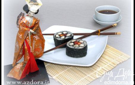 Рецепт Фальшивые суши-роллы с курицей