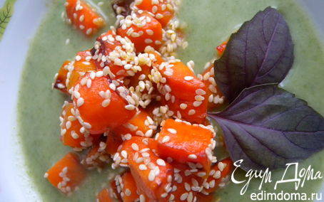 Рецепт Крем-суп из шпината с морковкой и кунжутом :-)