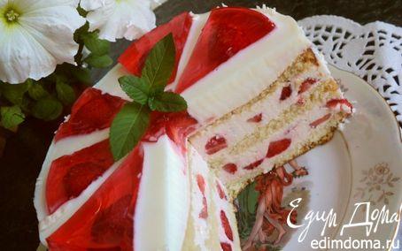 Рецепт Торт «Красное и белое»