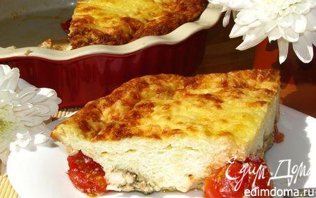 Рецепт Творожно-рисовый пудинг с помидорами-черри и курицей